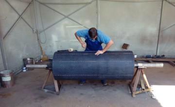 Футеровка барабана конвейера